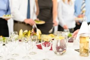 Business celebration close-up glasses for drink